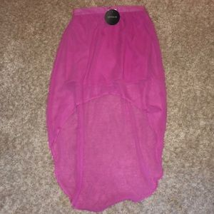 NWT pink high low skirt